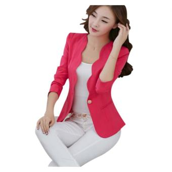 Harga Women's Slim Business Blazer Rosy