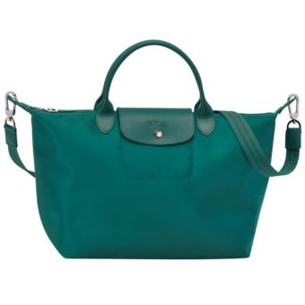 Longchamp Le Pliage Neo Small Short Handle Nylon With Sling - EMERALD GREEN Price Philippines