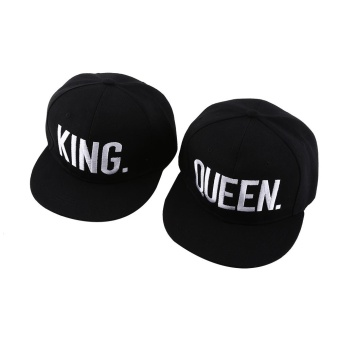 2Pcs/Set Couple Baseball Cap (KING + QUEEN) - intl Price Philippines