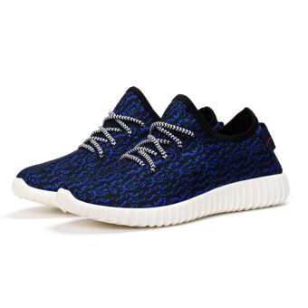 Harga Men New Fashion Cloth Casual Sports Shoes (Dark Blue)