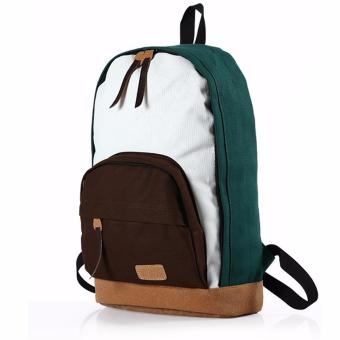 Korean fashion cool street backpack (green ) Price Philippines