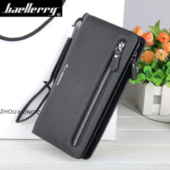 BYT Baellery Long Women Leather Zipper Wallet 201502 ( Black ) - Intl Price Philippines