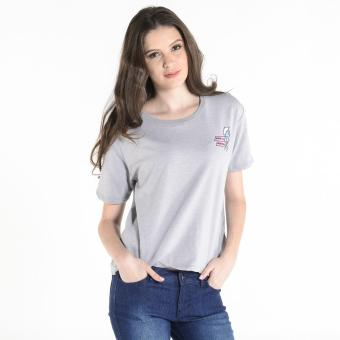 Harga Penshoppe Boxy Graphic Tee (Light Gray)