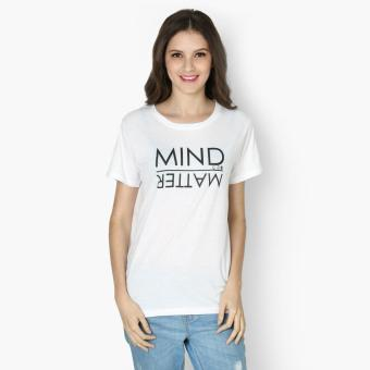 "SM Woman ""Mind Over Matter"" Statement Tee (White) Price Philippines"