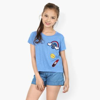 Harga jusTees Girls Lucky Patched Tee (Blue)