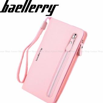 Baellerry Women Fashion Elegant Long Zipper Wallet Clutch Purse Peach Price Philippines