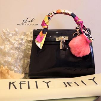 KELLY JELLY GLOSSY BAG 25cm BLACK Price Philippines