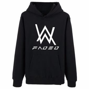 Harga Hequ The new Alan Walker DJ Alan Walker Hoodie sweater zipper set bass Faded the latest version of the luminous coat and tide Black - intl