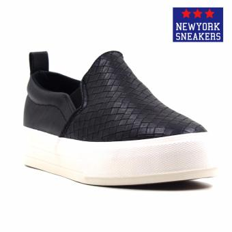 Harga New York Sneakers Bunty Slip On Shoes(BLACK)
