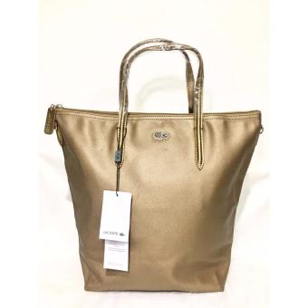 LACOSTE WOMEN'S L.12.12 CONCEPT VERTICAL TOTE BAG BROWN Price Philippines