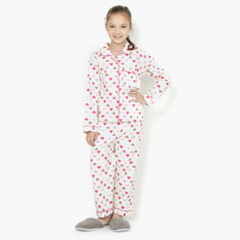 Nap Girls All-Over Hearts Pajama Set (Yellow) Price Philippines