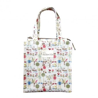Queen & Cat Alphabet Rabbit Design Lunch Bag with Zipper (Multicolor) Price Philippines