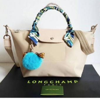 Harga LC Le Pliage Neo Small SHort Handle Free Twilly & Charm Original (BEIGE) Made in France