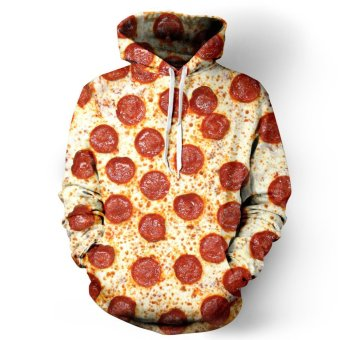 Innes Women's 3D Digital Print Pullover Sweater Hoodie Sweatshirt Pizza