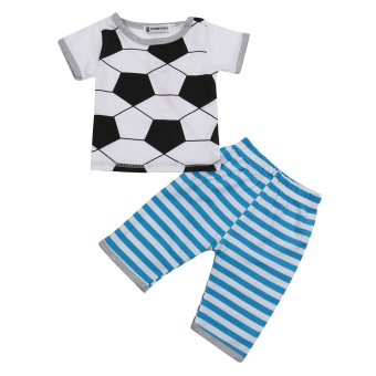 INS hot selling summer new football baby suit