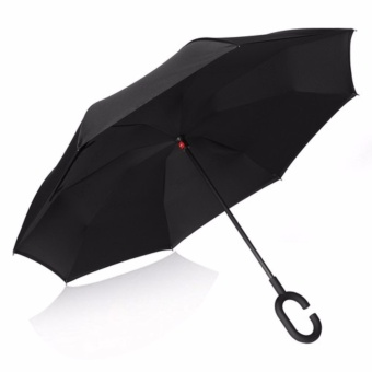 Inverted Reverse Kazbrella Reversible Umbrella (Black)
