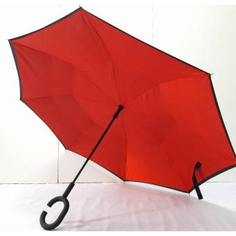 Inverted Reverse Kazbrella Reversible Umbrella (Red)