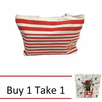 Isabel K001 Trendy Canvas Tote Bag Buy 1 Take 1 (Anchor)