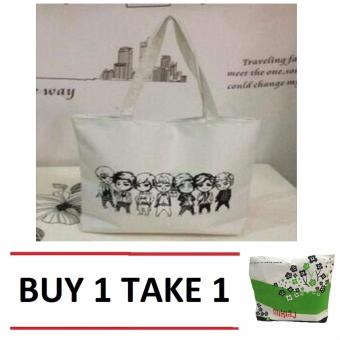 Isabel K001 Trendy Canvas Tote Bag Buy 1 Take 1 (Friends)