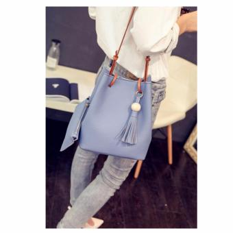 Isabel K009 Bucket Bag with Matching Coin Purse (Powder Blue)