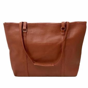 Isabel K010 Pebbled Leather Shoulder Bag (Brown) - 2