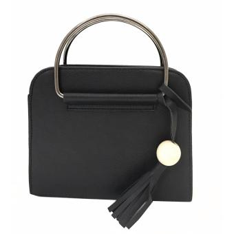 Isabel K015 Fashionable Top Handle Crossbody Bag With FringedTassel (Black) Price Philippines