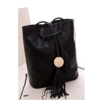 Isabel K029 Tassel Shoulder Bag (Black)