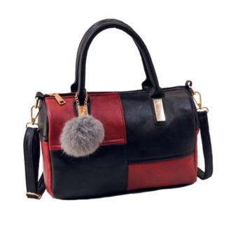 Isabel K036 Two-Tone Top Handle Crossbody Bag (Black/Red) Price Philippines