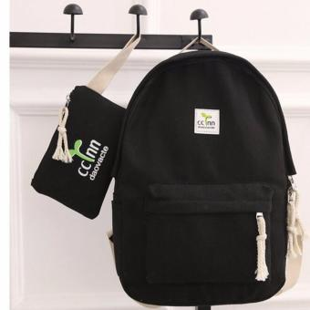 Isabel K043 Trendy Backpack with Pouch (Black) Price Philippines
