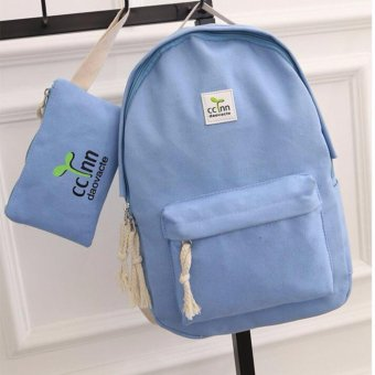 Isabel K043 Trendy Backpack with Pouch (Blue) Price Philippines