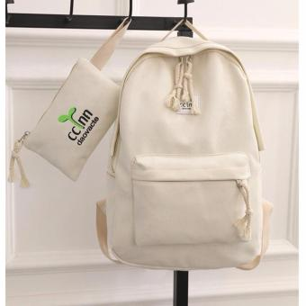 Isabel K043 Trendy Backpack with Pouch (Neutral)