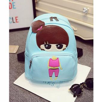 Isabel K047 Trendy Korean Girl Backpack (Blue) Price Philippines