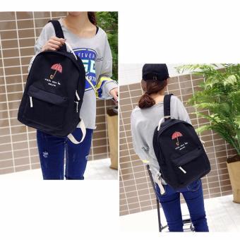 Isabel K067 Stylish Backpack with Matching Purse (Black) - 2
