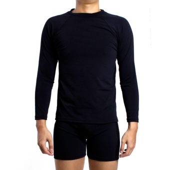 Island Paradise Rash Guard for Men (Black)
