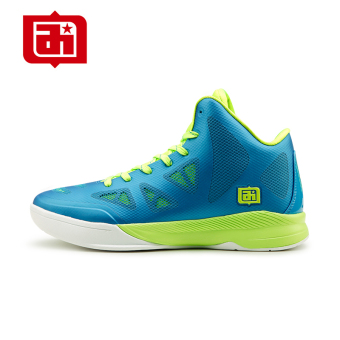 Iverson men hight-top summer new athletic shoes basketball shoes (Color Blue flourescent green)