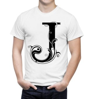 J-Letter T-Shirt (White) Price Philippines