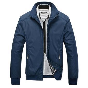 Jacket Men Overcoat Casual Bomber Jackets Mens Outdoor Windbreaker Coat Jaqueta Masculina Veste Homme Brand Clothing - intl - 2