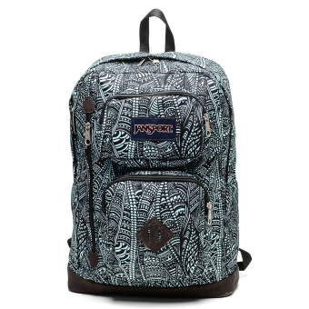 Jansport Austin Backpack (Aqua Dash Scribbled Ink)
