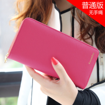 Japan and South Korea female zip student clutch bag women's wallet (Peachy)