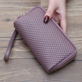 Japan and South Korea New style purse bag long women's wallet (Purple)