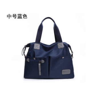Japan and South Korea shoulder portable cross-body big bag New style women's bag (Dark blue-Medium) (Dark blue-Medium)