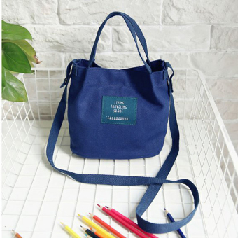 Japan and South Korea Small bucket bag women's bag (Dark blue color) (Dark blue color)