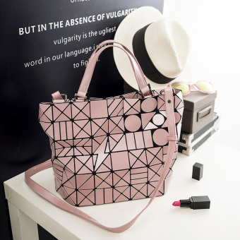Japan and South Korea spring and summer New style laser quilted bag (Pink) (Pink)