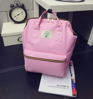 Japan Style Big capacitance Smiling Backpack/ Pink top-Handle Bag -intl Price Philippines