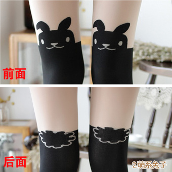 Japanese-style silk anti-hook stockings socks pantyhose (Cute rabbit)