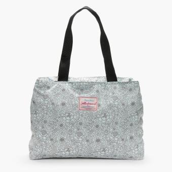 Jellybeans Ladies White Tote Bag (Navy Blue)