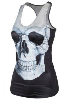Jetting Buy Skull Printed Tank Top Black