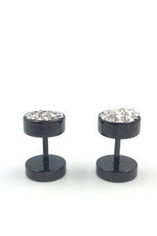 Jetting Buy Stainless Steel Crystal Ear Studs Earrings Black