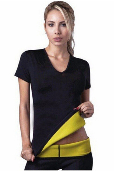 Jetting Buy Women Body Slimming Tops Short Sleeved Stretch Black