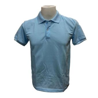 JEVANA Knitted Plain Polo Shirt (Light Blue)